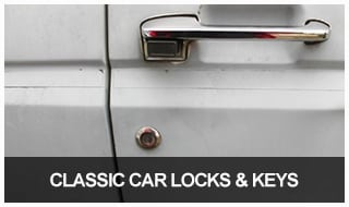 Image of a 1970s automobile door and door handle