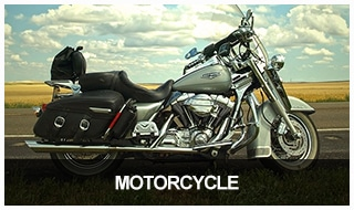 Image of a cruising motorcycle